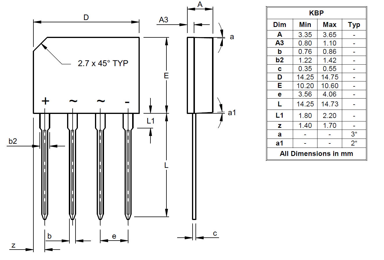Package Outlines And Suggest Pad Layouts Diodes Incorporated Relay Switch Diode